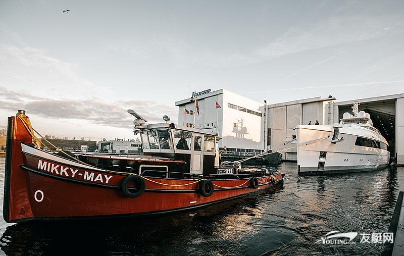 斐帝星 58 米长超艇 Najiba 正式下水