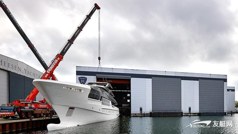 Heesen 55 米长超艇 Antares 正式下水