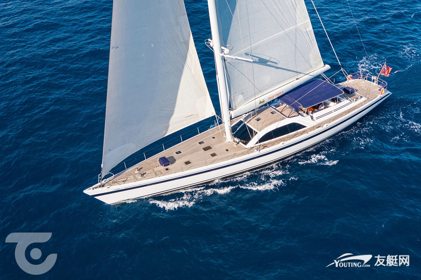 34 米长的 Nautor's Swan 帆船 Fruition II